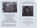 2005-04-20; Pamphlets; Home Going Celebration Elizabeth Garner Flood