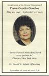 2005-09-26; Pamphlets; A Celebration of the Life and Homegoing of Yvette Cecelia Goodloe