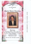 2006-10-04; Pamphlets; In Loving Memory of Marie Shaw Hawkes