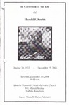 2006-12-30; Pamphlets; In Celebration of the Life of Harold S Smith