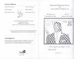 2008-01-26; Pamphlets; Memorial Celebration Service for Louis Jackson Chapman Sr.