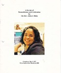 2008-03-14; Pamphlets; A Service of Remembrance and Celebration for The Rev Alicia J Blake