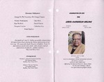 2008-05-12; Pamphlets; Celebration of Life for Carol Gwendolyn Hollins