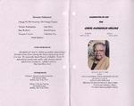 2008-05-12; Pamphlets; Celebration of Life for Carol Gwendolyn Hollins