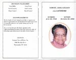 2008-10-28; Pamphlets; Leila Lillian Samuel