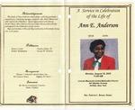 2010-08-16; Pamphlets; Ann E Anderson