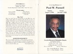 2012-01-13; Pamphlets; In Loving Memory of Paul W Pannell