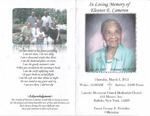 2012-03-01; Pamphlets; In Loving Memory of Eleanor E Cameron by Lincoln Memorial United Methodist Church