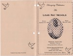 2012-04-04; Pamphlets; Homegoing Celebration for Louis Ray Nichols