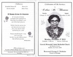 2012-12-03; Pamphlets; Celebration of Life services for Edna B Thomas by Lincoln Memorial United Methodist Church