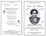 2012-12-03; Pamphlets; Celebration of Life services for Edna B Thomas