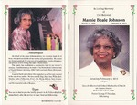 2013-02-02; Pamphlets; In Loving Memory of Our Beloved Mamie Beale Johnson by Lincoln Memorial United Methodist Church