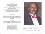 2013-10-31; Pamphlets; A Celebration of the Life of Edward Orlando Watts Sr. P E