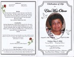 2014-05-02; Pamphlets; Celebration of Life for Elsie Mae Oliver by Lincoln Memorial United Methodist Church