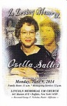 2014-06-09; Pamphlets; In loving Memory of Ozella Salter