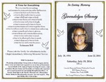 2014-07-19; Pamphlets; In Loving Memory of Gwendolyn Stoney by Lincoln Memorial United Methodist Church