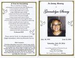 2014-07-19; Pamphlets; In Loving Memory of Gwendolyn Stoney