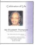 2014-11-07; Pamphlets; Celebration of Life Ida Elizabeth Thompson