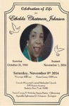 2014-11-08; Pamphlets; Celebration of Life for Ethelda Chatmon Johnson