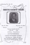 2014-12-10; Pamphlets; Celebrating The Life of Christina Elizabeth Jackson by Lincoln Memorial United Methodist Church