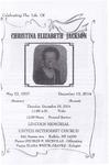2014-12-10; Pamphlets; Celebrating The Life of Christina Elizabeth Jackson