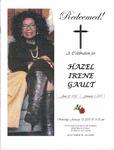 2015-01-10; Pamphlets; Redeemed A Celebration for Hazel Irene Gault