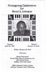2015-01-23; Pamphlets; Homegoing Celebration for Dond L Johnson by Lincoln Memorial United Methodist Church