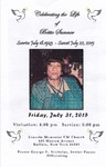 2015-07-31; Pamphlets; Celebrating the Life of Bettie Sumner