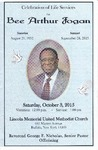 2015-11-03; Pamphlets; Bee Arthur Fogan by Lincoln Memorial United Methodist Church
