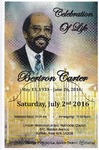 2016-07-02; Pamphlets; Celebration of Lif Bertron Carter by Lincoln Memorial United Methodist Church