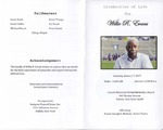 2017-01-07; Pamphlets; Celebration of Life for Willie R Evans by Lincoln Memorial United Methodist Church