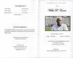 2017-01-07; Pamphlets; Celebration of Life for Willie R Evans