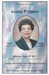 2017-04-29; Pamphlets; Celebration of Life for Lucy Fogan by Lincoln Memorial United Methodist Church