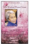 2017-05-26; Pamphlets; Celebration of Life for Doris Winifred Waters Givens by Lincoln Memorial United Methodist Church