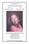 2016-04-20; Pamphlet; In Loving Memory of Ethel Elaine King Coleman by Lincoln Memorial United Methodist Church