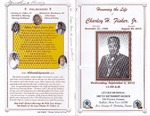 2012-09-06; Pamphlet; Honoring the Life of Charley H Fisher Jr by Lincoln Memorial United Methodist Church