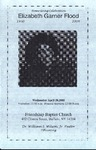 2005-04-20; Pamphlet; Home Going Celebration Elizabeth Garner Flood