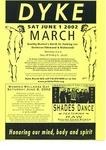 Dyke March Flyer by The Buffalo Dyke March Committee