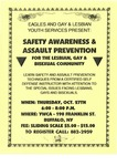 Flyer for Safety Awareness & Assault Prevention for the Lesbian, Gay, & Bisexual Community by EAGLES