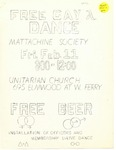 Free Gay Dance Flyer by The Mattachine Society of the Niagara Frontier