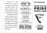Pamphlet for Western New York Pride Weekend 1995 by Pride Western New York