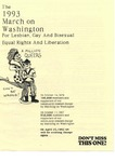 Handout for the 1993 March on Washington for Lesbian Gay and Bisexual Equal Rights and Liberation by March on Washington