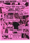 Flyer for Ask Tell Dance Party by The Edge