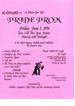 Flyer for Pride Prom
