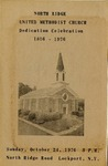 Events and Activities; Dedication Celebration; 1976 by North Ridge United Methodist Church