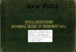 Record Book; Marriage-Baptisms; 1945-1965 by North Ridge United Methodist Church
