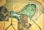 """Detail of """"Olmsted's Sketch Map of Buffalo,"""" 1881, showing Parkside."""
