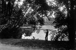 """Delaware Park Lake (""""Gala Water""""), c. 1910."""