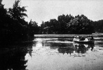 Boaters on Delaware Park lake. Anonymous photograph, c. 1910.
