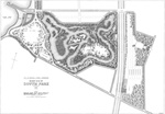 F.L. & J.C. Olmsted, 1888 South Park Plan. From F.L. and J.C. Olmsted, <i>The Projected Park and Parkways on the South Side of Buffalo. Two Reports by the Landscape Architects.